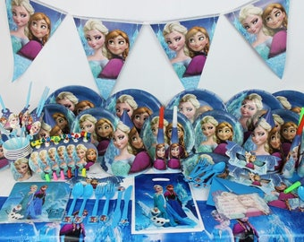 Birthday Supplies Frozen - 78pcs Birthday Party Decoration Kids Event & Free shipping!