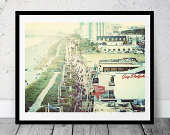 Beach Boardwalk, Printable Art, Coastal Photography, Coastal Decor