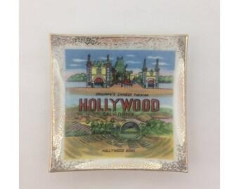 1950's Souvenir Hollywood Ceramic Ash Tray