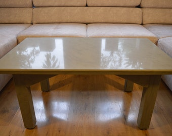 Natural Stone High Gloss Polished Coffee Table 100 x 60 cm