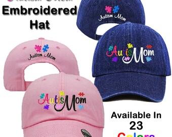Autism Mom Embroidered Baseball/Dad Hat, Autistic, Autism, Spectrum, AuSome