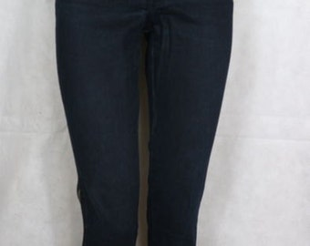 Ferre jeans-black studded Jean side zip made in italy