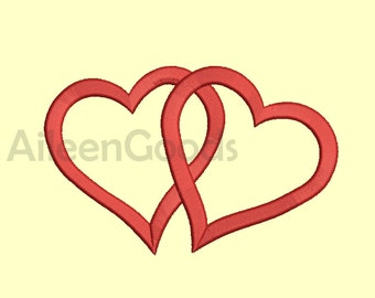 Heart  Embroidery design 7 Size  INSTANT download machine embroidery