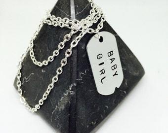 DDLG, Baby Girl, DDLG Necklace, Babygirl Necklace, DDLG Gift, princess necklace, Bdsm necklace, Bdsm gift, girls dog tag pendant