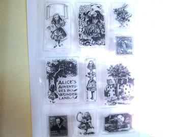 Clear Stamp Set Alice in Wonderland Set 10 stamps