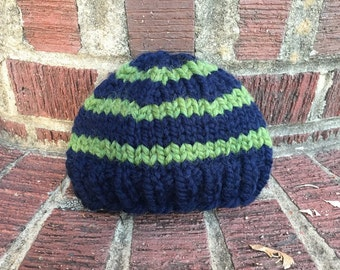 Striped Knit Baby Hat