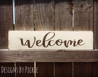 Welcome Sign, Farmhouse Style, Rustic decor