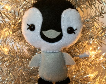 Felt Penguin Christmas Ornament
