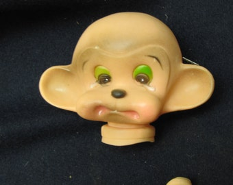 VINTAGE - Darci Brand - MONKEY Baby Doll head, with hands and feet.   Set of 2.