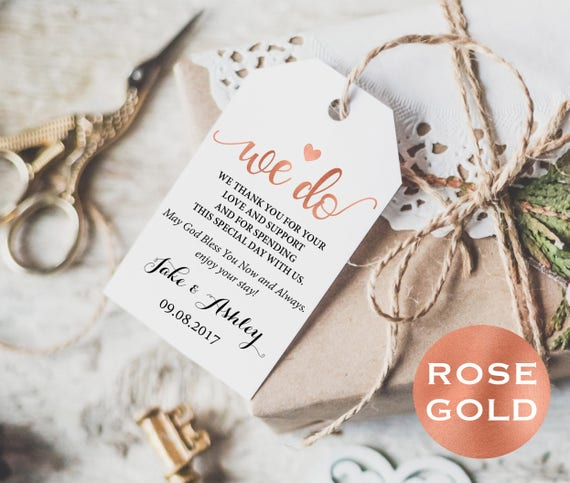 Rose gold wedding thank you cards