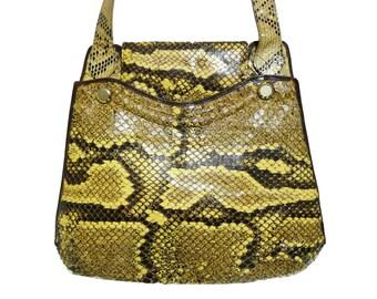 PYTHON bag vintage Luxury 60s sac tasche snake reptile borsa pitone 50s 70s pin up burlesque serpente 40s 50s flap clutch hobo flap handbag