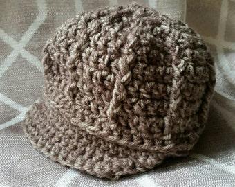 Crochet Newsboy Hat - Infant