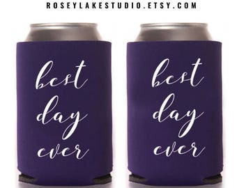 Best Day Ever Can Coolers,Can Cooler,Can Coolers,Wedding,Weddings,Wedding Coolers,Bride,Bridal,Party,Parties,Celebrations,Personalized,Favor