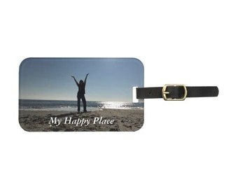My Happy Place Me Luggage Tag