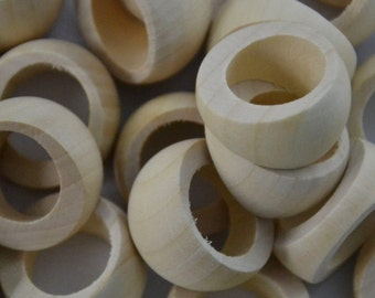 5pcs-unfinished natural wood ring blank for jewelry making and craft material ET1780