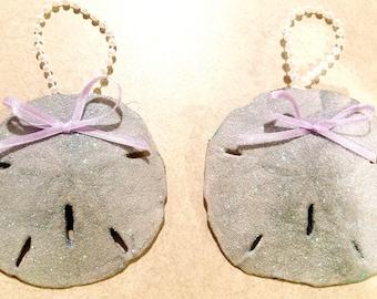 Silver sand dollars(pair)