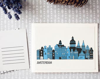 Postcard: Amsterdam city view