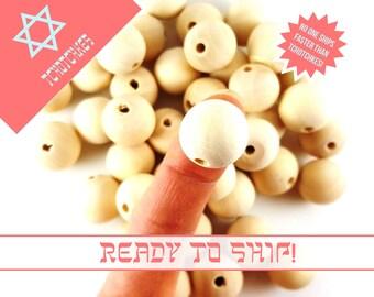 20 Medium Wooden Beads, Maple Beads, 18mm Wooden Balls, 18mm Maple Wood Bead, Maple Wood Balls, Wood Charms, Wood Maple Beads, Maple Wood
