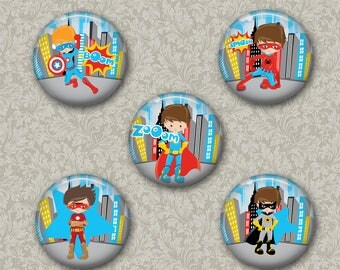 Superhero Boys  Magnets