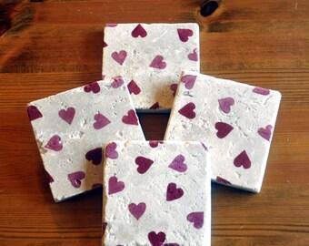 Emma Bridgewater Styled Heart Natural Stone Coaster