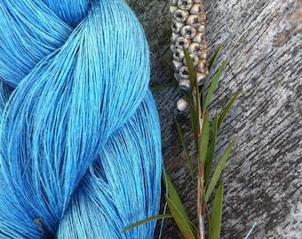 Blue linen, dyed linen, blue yarn, blue flax, natural linen, color linen, color flax, flax, lithuanian linen, knitting linen, yarns