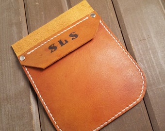 Personalized Leather Pocket Protector