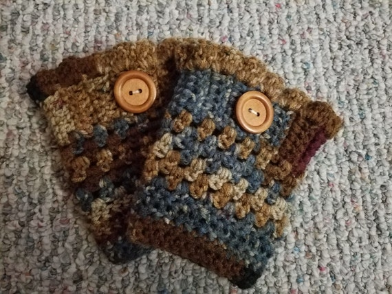 READY TO SHIP - Crocheted Boot Cuffs - Small