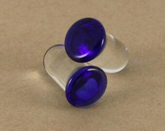 Cobalt Blue Single Flare Glass Plug | 1 Piece | Ear Stretching