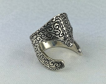 Greek helmet ring, gothic particular ring and bikers fantasy helmet