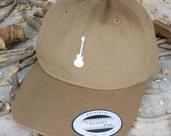 Guitar - choose hat color dad hat with embroidery