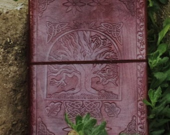 Leather Notebook - Tree of life Leather Bound Journal - Celtic Symbol Leather Diary - Handcraft sketchbook