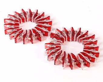 50 pcs DIY Plastic Sewing Fixed Clips Patchwork Crafts Transparent Quilt Quilting Patchwork Clip
