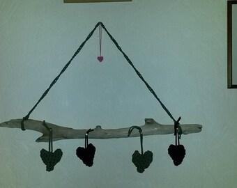 driftwood crochet hearts