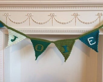 Crocheted Bunting - Knitted Bunting - Baby Shower Gift - Toddler Gift - Personalised Baby Gift - Christening Garland - Customised Bunting