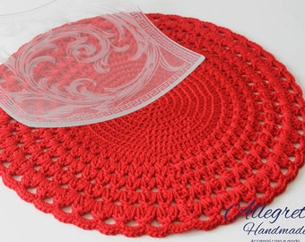 Tutorial placemat handmade Tutorial doily DIY Pattern centerpieces