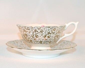 Vintage Guaranteed English bone China Teacup + Saucer Set