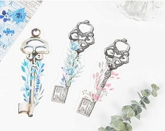 SALE! 30 Pcs Flower keys bookmarks in 1 box