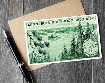 minnesota postcards, minnesota statehood, birthday cards, greeting cards, birthday greeting cards, vintage minnesota postcards, minnesota
