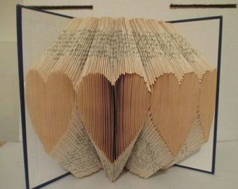 Recycled Heart Folded Book art