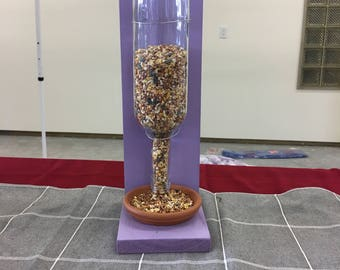 Glass Bottle Bird Feeder