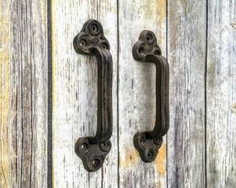Barn Door Handles, Rustic Handles, Gate Handles, Door Pulls, Trunk Handles, Rustic Pulls, Cast Iron Handles, Cast Iron Pulls, Drawer Pull