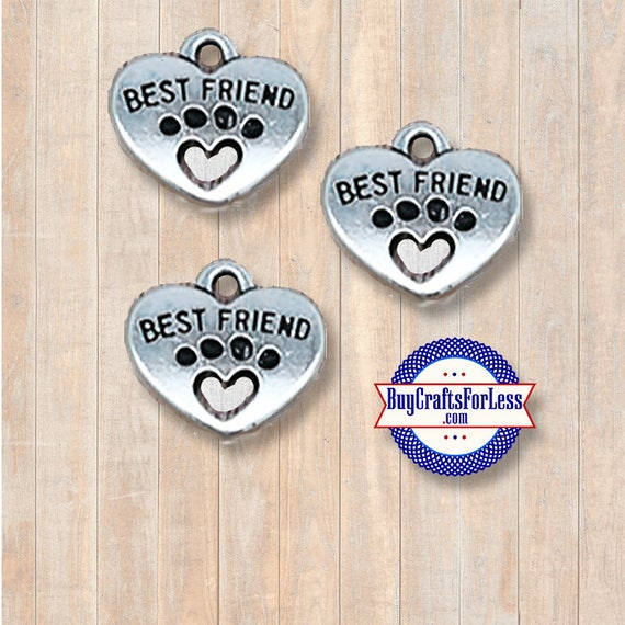 Paw Print Best FRIEND Charms, 4 pcs +Discounts & FREE Shipping*