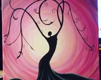 Whimsical female tree