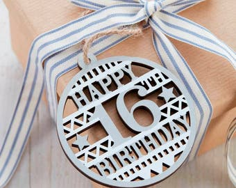 16th Birthday Gift Tag