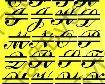 SVG Monogram SVG font SVG file svg cut files svg files for cricut svg file silhouette svg designs svg cutting file Svg monogram font