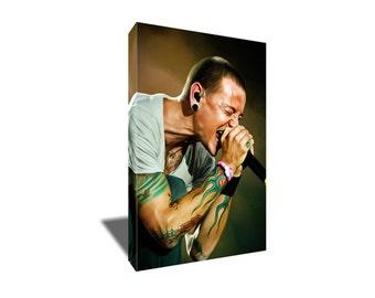 FREE SHIPPING Linkin Park's Chester Bennington Canvas Art