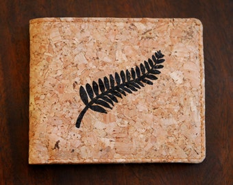 Personalized Organic Cork Wallet Handmade