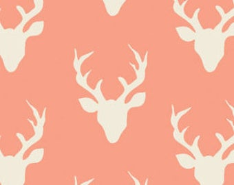Pink Woodland Deer diaper changing pad cover