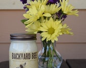 14 oz natural soy candles hand crafted by Backyard Bee and inspited by our very own backyard bees