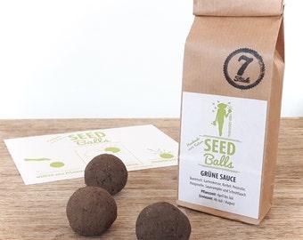 Green Sauce Seedballs - 7 Pack of Seedbombs